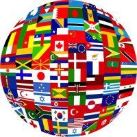 Big Globe of Flags kopi
