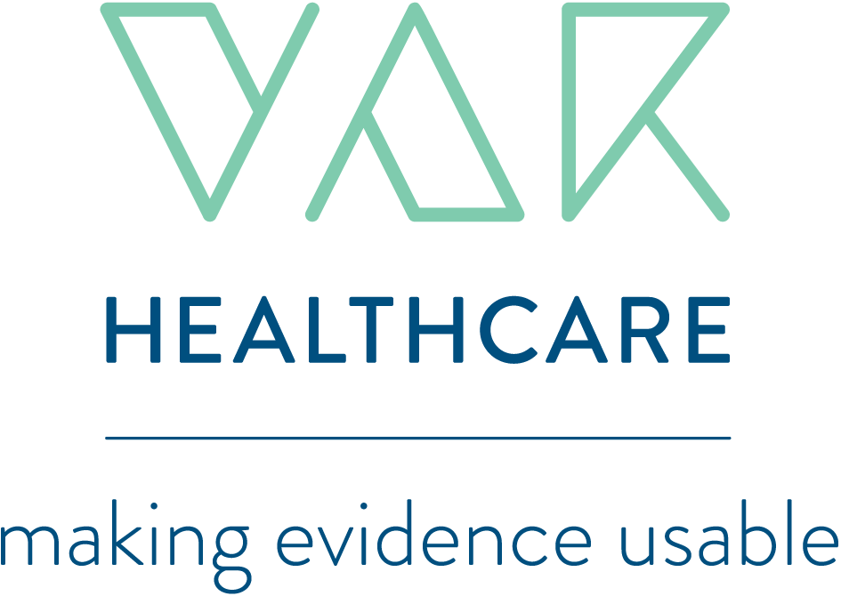 VAR healthcare tagline mint blue